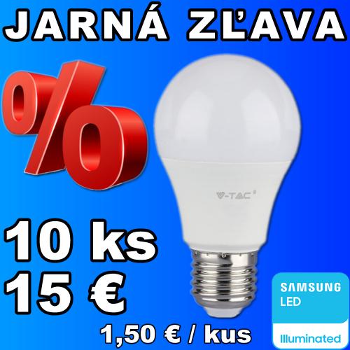 V-TAC PRO SAMSUNG LED žiarovka E27 9W studená biela - 10 kusov