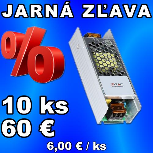 V-TAC napájací zdroj 12V 5A 60W IP20 - 10 kusov