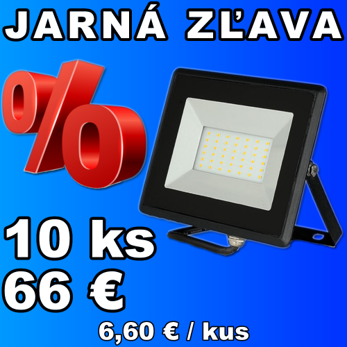 V-TAC LED reflektor 30W studená biela - 10 kusov