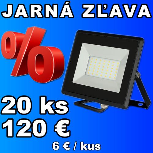 V-TAC LED reflektor 30W studená biela - 20 kusov