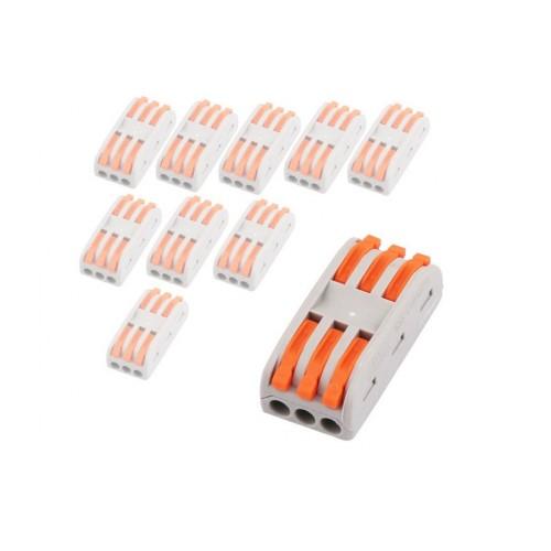 V-TAC káblová svorka 3-pin dvoj-cestná