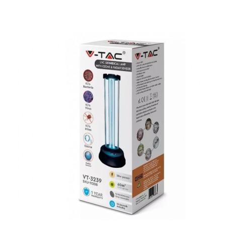 V-TAC germicídna lampa 38W s generátorom ozónu a senzorom pohybu