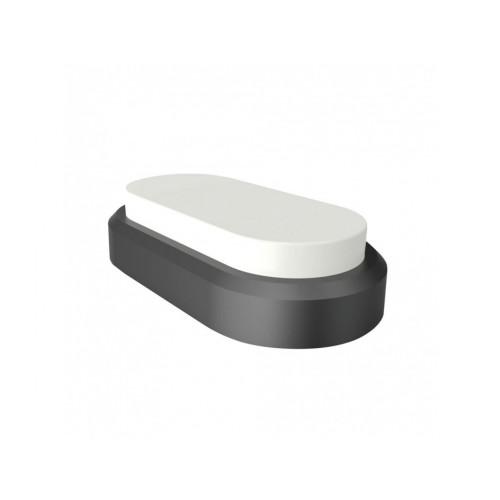 V-TAC LED svietidlo 8W studená biela čierne IP54