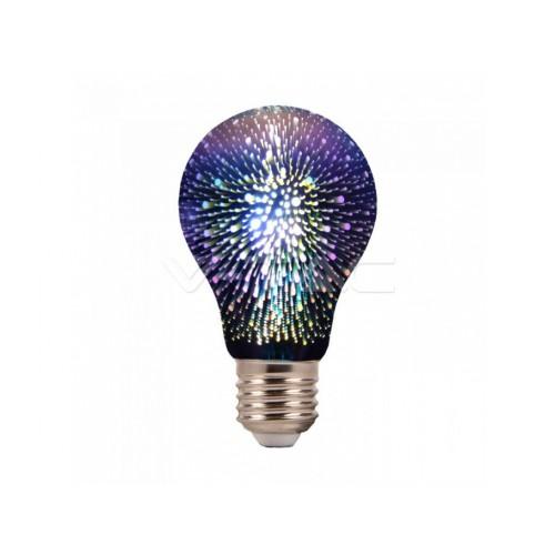 V-TAC LED žiarovka E27 A60 3W teplá biela filament