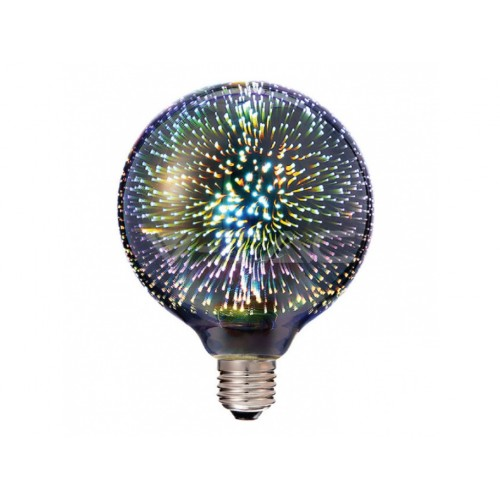 V-TAC LED žiarovka E27 G125 3W teplá biela filament
