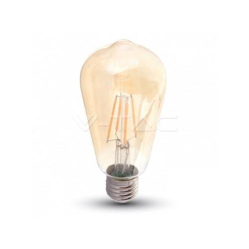 V-TAC PRO LED žiarovka - E27 ST64 6W 2200K AMBER SAMSUNG