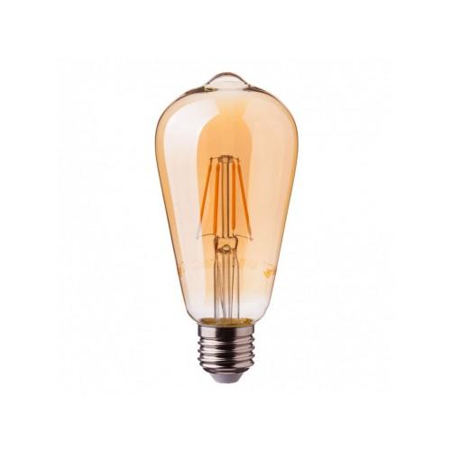 V-TAC PRO LED žiarovka E27 ST64 6W teplá biela AMBER SAMSUNG