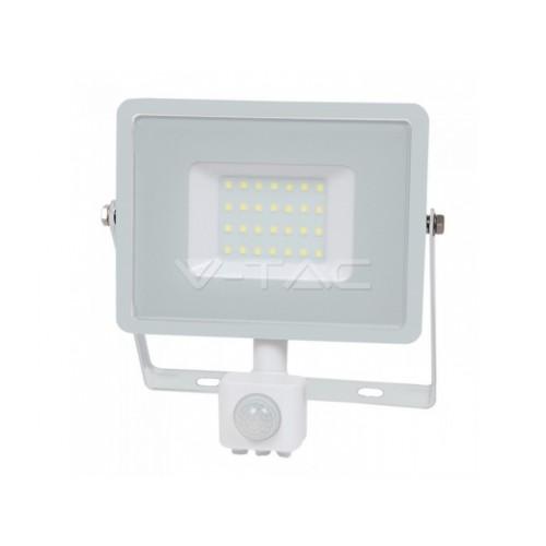 V-TAC PRO SAMSUNG LED reflektor 30W studená biela so senzorom