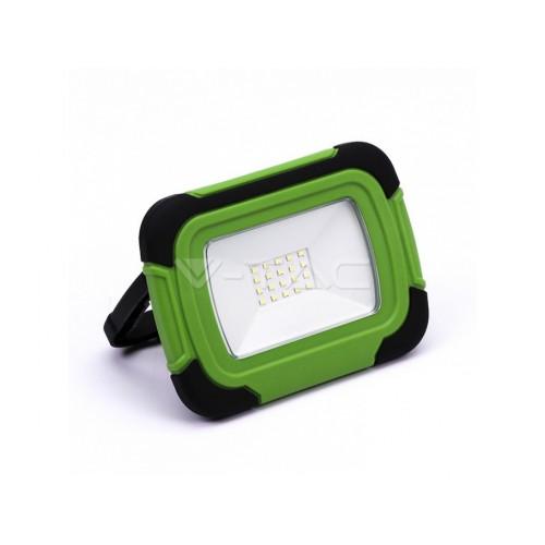 V-TAC PRO LED reflektor SMD 10W studená biela nabíjací IP44
