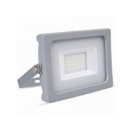 V-TAC SMD LED reflektor 20W sivý studená biela