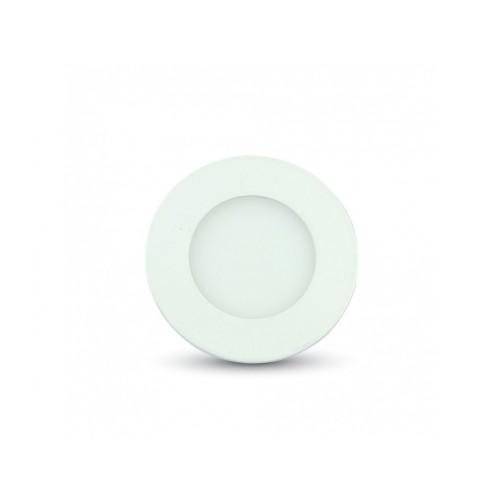 V-TAC LED panel 3W studená biela kruhový