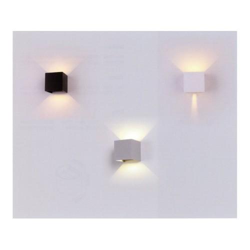 V-TAC LED svietidlo 6W teplá biela štvorcové IP65