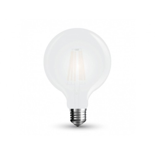 V-TAC LED žiarovka E27 G125 7W teplá biela filament frost