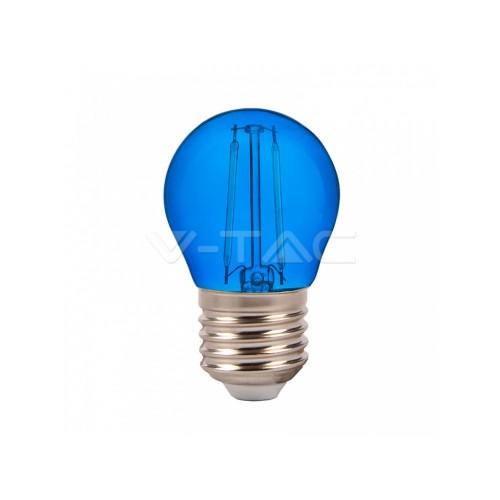 V-TAC LED žiarovka E27 G45 2W modrá