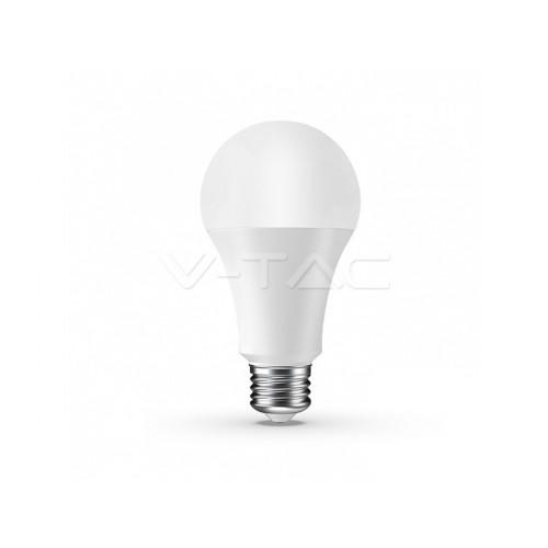 V-TAC SMART LED žiarovka E27 A65 9W RGB + denná biela