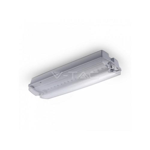 V-TAC LED núdzové svietidlo 3W studená biela