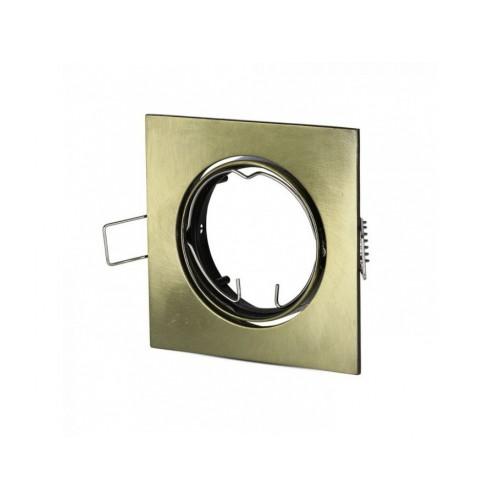 V-TAC rámik na bodovú žiarovku štvorcový zlatý výklopný