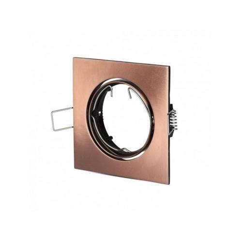 V-TAC rámik na bodovú žiarovku štvorcový bronzový výklopný