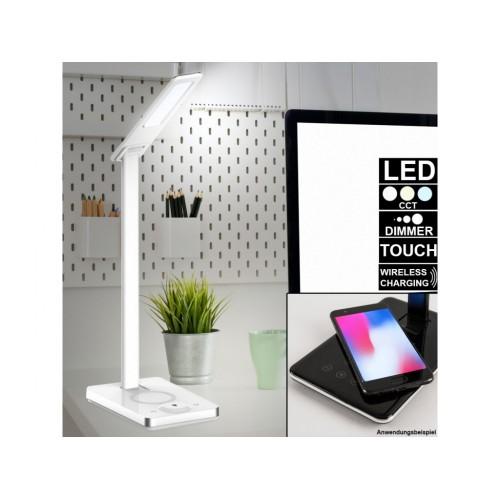 V-TAC LED lampa stolová biela 5W 2700K-6500K + bezdrôtové nabíjanie