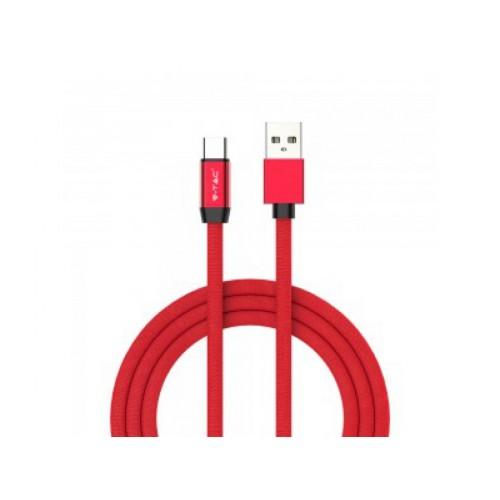 V-TAC USB kábel USB-C 1m červený RUBY séria