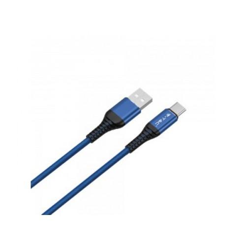 V-TAC USB kábel USB-C 1m modrý GOLD séria
