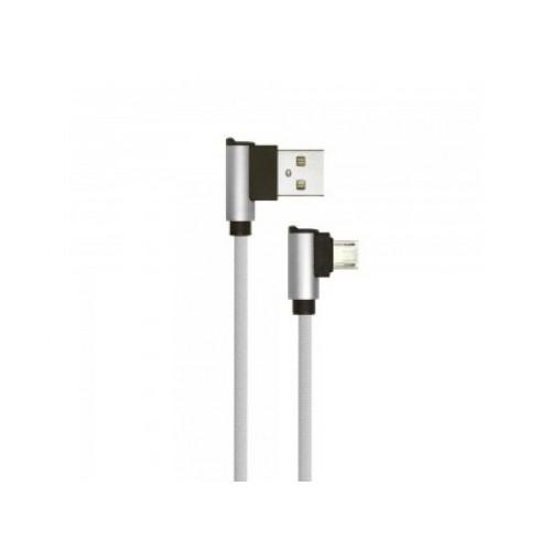 V-TAC USB-MICRO kábel 1m strieborný 2.4A Diamond séria