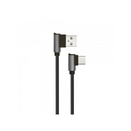 V-TAC USB-C kábel 1m čierny 2,4A Diamond séria