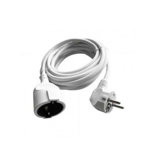 V-TAC POWER predlžovací kábel - 1x zásuvka 5m biely