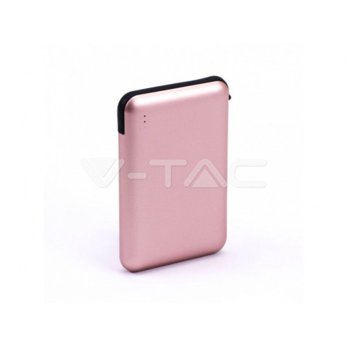 V-TAC POWER power bank 5 000mAh + kábel rose gold