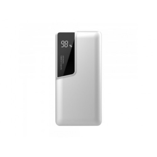 V-TAC POWER power bank 10 000mAh + display USB-C biely