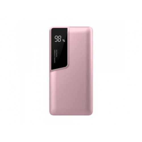 V-TAC POWER power bank 10 000mAh + display USB-C rose gold