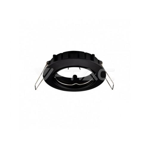 V-TAC rámik na bodovú žiarovku okrúhly čierny výklopný