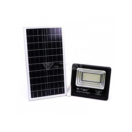 V-TAC solárny reflektor 40W studená biela
