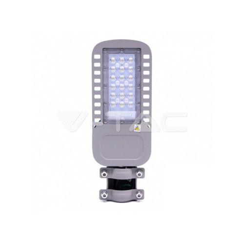 V-TAC PRO LED pouličné svietidlo 30W denná biela 120lm/W SAMSUNG