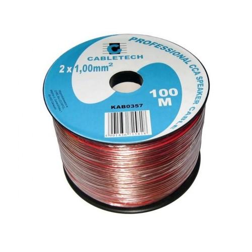 Káble dvojlinka červeno-čierna 2x0,50mm - balenie 100m.
