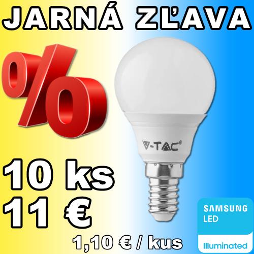 V-TAC PRO SAMSUNG LED žiarovka E14 P45 5,5W denná biela - 10 kusov
