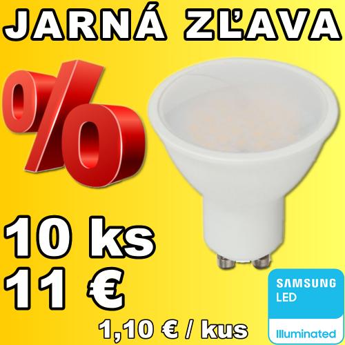 V-TAC PRO SAMSUNG LED žiarovka GU10 5W teplá biela - 10 kusov