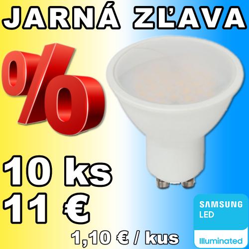 V-TAC PRO SAMSUNG LED žiarovka GU10 5W denná biela - 10 kusov