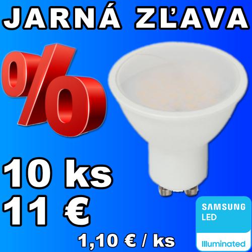 V-TAC PRO SAMSUNG LED žiarovka GU10 5W studená biela - 10 kusov